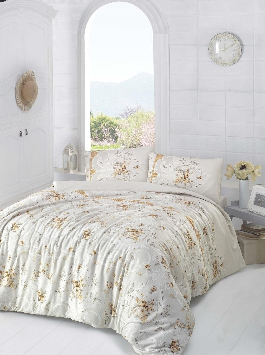 Комплект белья Altinbasak Duru, 2-спальный, наволочки 50х70, цвет: коричневый297/12/CHAR002