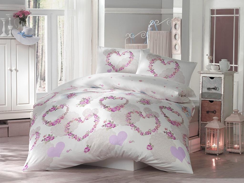 Комплект белья Altinbasak Huma, 2-спальный, наволочки 50х70, цвет: голубой297/20/CHAR001