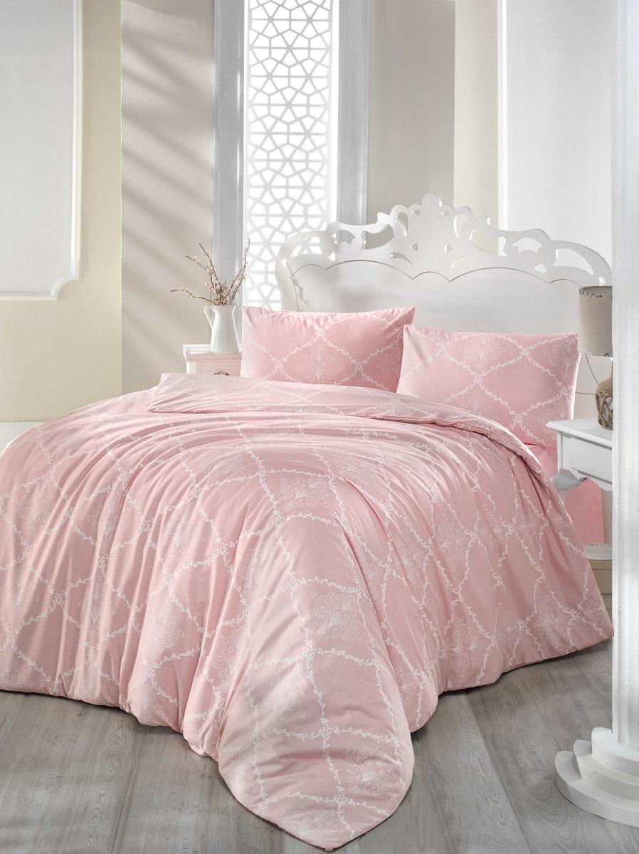 Комплект белья Altinbasak Lamina, 2-спальный, наволочки 50х70, цвет: розовый297/22/CHAR003