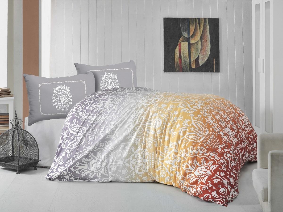 Комплект белья Altinbasak Vizyon, евро, наволочки 50х70, цвет: оранжевый297/39/CHAR002