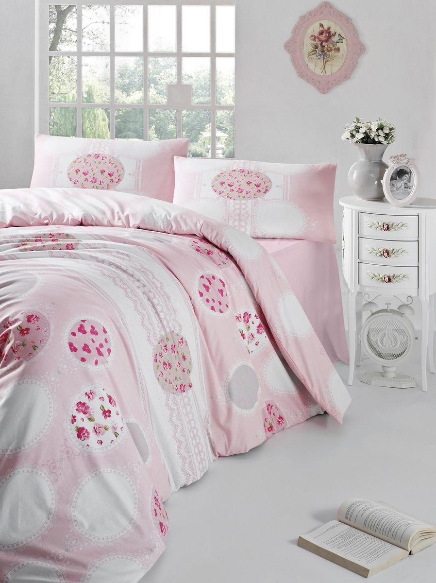 Комплект белья Altinbasak Belin, 2-спальный, наволочки 50х70, цвет: розовый297/7/CHAR002