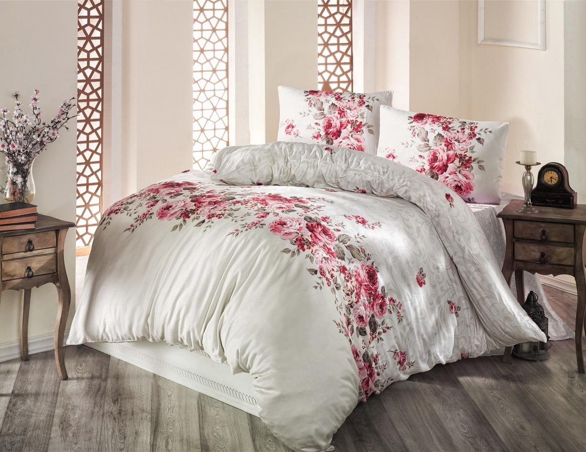 Комплект белья Altinbasak Belissa, 2-спальный, наволочки 50х70, цвет: бежевый297/8/CHAR001
