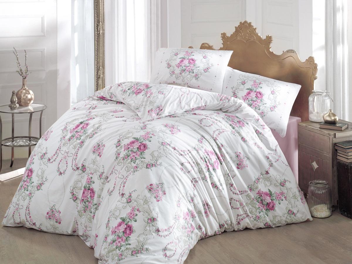 Комплект белья Altinbasak Admire, 2-спальный, наволочки 50х70, цвет: розовый297/CHAR003