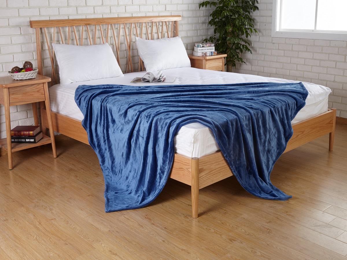 Плед Karna Elza, цвет: синий, 160 x 200 см5084/CHAR008