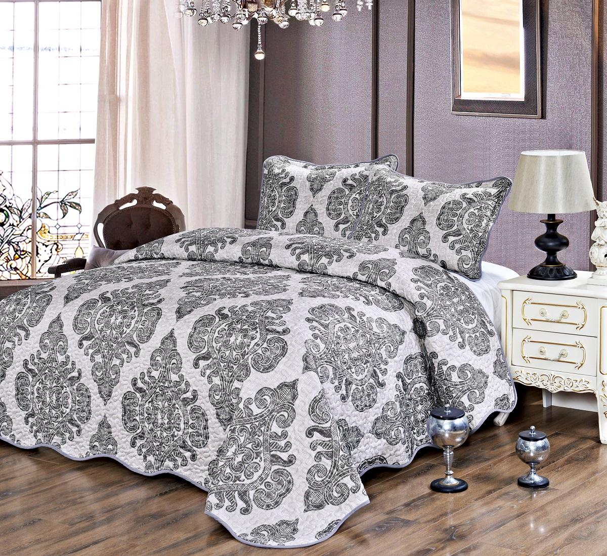 Комплект для спальни Karna Gretal: покрывало 230 х 250 см, 2 наволочки 50 х 70 см, цвет: damask6000