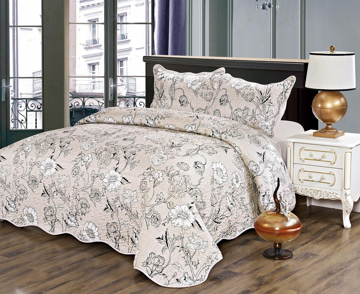 Комплект для спальни Karna Gretal: покрывало 230 х 250 см, 2 наволочки 50 х 70 см, цвет: nesrin6001
