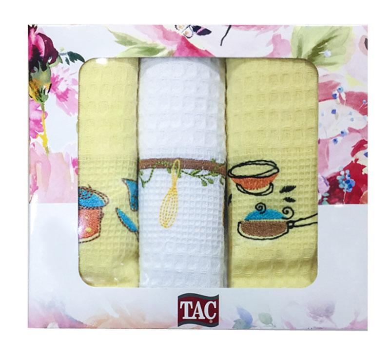 Набор кухонных полотенец TAC Посуда, 40 x 60 см, 3 шт2999n-89697Практичные полотенца для кухни на каждый день.