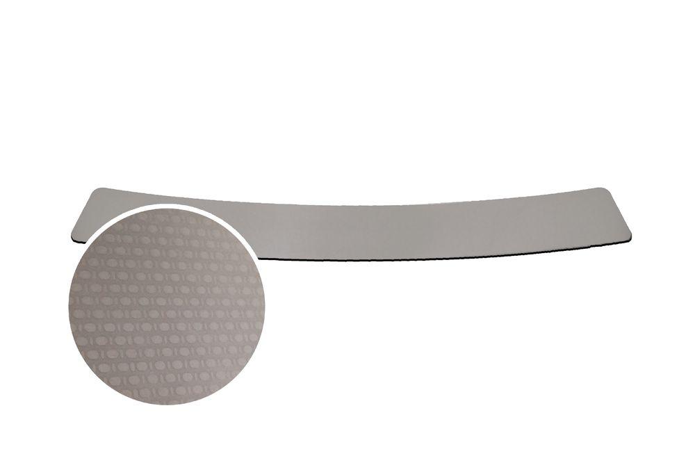 """Накладка на задний бампер Rival для Renault Duster 2015-, 1 штNB.4703.1Накладка на задний бампер RIVAL Накладка на задний бампер защищает лакокрасочное покрытие от механических повреждений и создает индивидуальный внешний вид автомобиля - Использование высококачественной итальянской нержавеющей стали AISI 304. - Надежная фиксация на автомобиле с помощью """"фирменного"""" скотча 3М. - Рельефный рисунок накладки придает автомобилю индивидуальный внешний вид. - Идеально повторяют геометрию бампера автомобиля. Уважаемые клиенты! Обращаем ваше внимание, что накладка имеет форму и комплектацию, соответствующую модели данного автомобиля. Фото служит для визуального восприятия товара."""