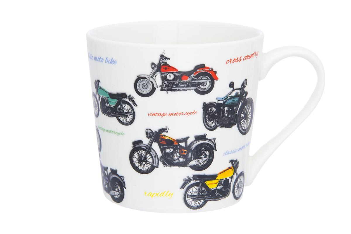 Кружка Elan Gallery Мотоциклы, 400 мл230034Кружка классической формы объемом 400 мл с удобной ручкой. Подходят для любых горячих и холодных напитков, чая, кофе, какао. Изделие имеет подарочную упаковку, поэтому станет желанным подарком для Ваших близких! Не рекомендуется применять абразивные моющие средства.