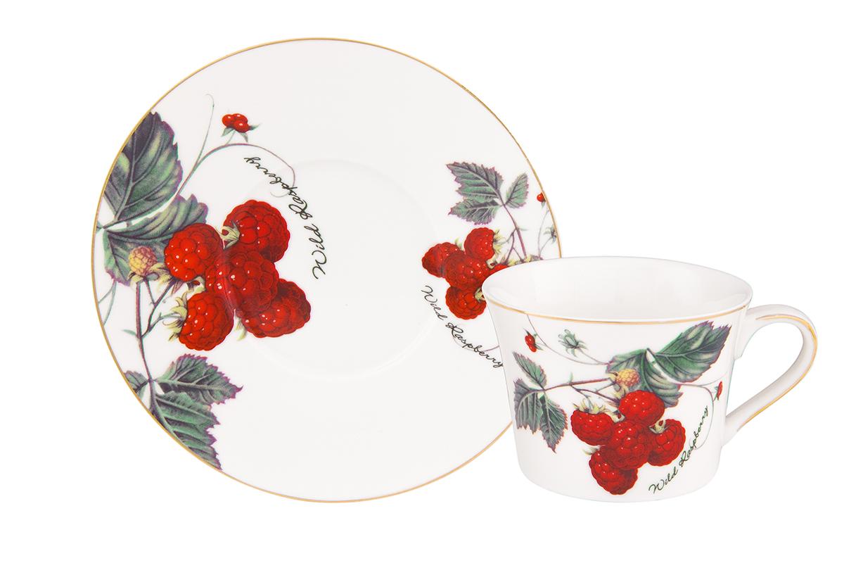 Чайная пара Elan Gallery Ягода-малина, 2 предметаVT-1520(SR)Чайная пара на 1 персону в оригинальном дизайне украсит ваше чаепитие. В комплекте 1 чашка, 1 блюдце. Изделие имеет прозрачную подарочную упаковку с бантиком, поэтому станет желанным подарком для ваших близких, коллег и друзей!Объем кружки: 210 мл.