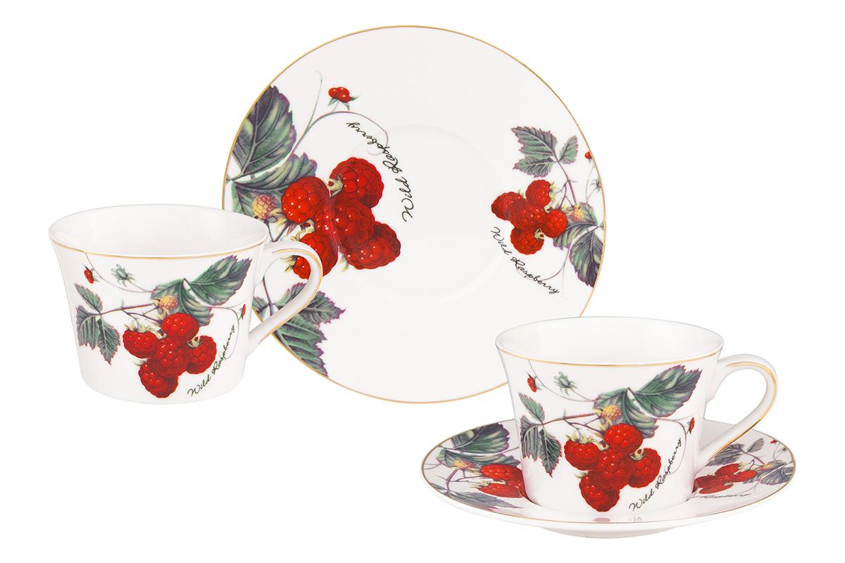 Набор чайный Elan Gallery Ягода-малина, 4 предмета730609Чайный набор Elan Gallery Ягода-малина состоит из 2 чашек, 2 блюдец, изготовленных из высококачественного фарфора. Предметы набора декорированы изображением ягод. Чайный набор Elan Gallery Ягода-малина украсит ваш кухонный стол, а также станет замечательным подарком друзьям и близким. Изделие упаковано в подарочную коробку с атласной подложкой. Не рекомендуется применять абразивные моющие средства. Не использовать в микроволновой печи. Объем чашки: 210 мл.