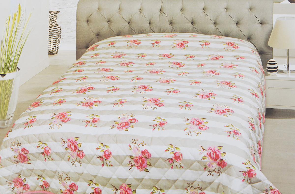 Покрывало Schaefer, цвет: серый, белый, розовый, 220 х 240 см07760-196Стеганое покрывало Schaefer с красивым орнаментом прекрасно дополнит интерьер спальни. Покрывало выполнено из высококачественного 100% полиэстера, который отличается мягкостью и необычайной шелковистостью. Модный рисунок, современные цветовые сочетания, гладкая приятная ткань делают покрывало прекрасным украшением интерьера.