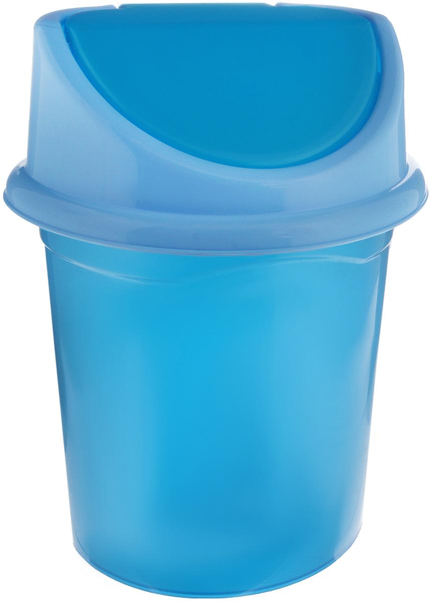 Контейнер для мусора Violet, цвет: синий металлик, голубой, 4 л0404/55_синий металлик, голубойКонтейнер для мусора Violet изготовлен из прочного пластика и снабжен удобной съемной крышкой с подвижной перегородкой. В нем удобно хранить мелкий мусор. Благодаря лаконичному дизайну такой контейнер идеально впишется в интерьер и дома, и офиса. Размер изделия: 16 x 20 x 27 см. Размер ведра без крышки: 15 х 19 х 27 см. Размер крышки: 16,3 х 18 х 8 см.