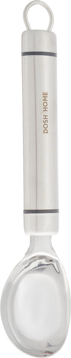 Ложка для мороженого Dosh Home Orion, длина 21,2 см100122Ложка Dosh Home Orion, изготовленная из высококачественной нержавеющей стали, отлично подходит для того, чтобы без труда сервировать мороженое порционно. Прочная конструкция позволит сформировать красивые шарики даже из самого твердого мороженого. На ручке есть удобное ушко для подвешивания. Можно мыть в посудомоечной машине. Длина ложки: 21,2 см. Размер рабочей поверхности: 6 х 4,5 см.
