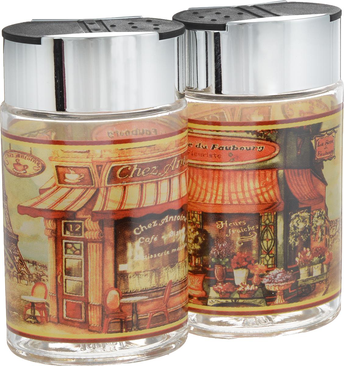 Набор для соли и перца SinoGlass Бутик, 2 предметаSI-806648003-ALНабор SinoGlass Бутик состоит из солонки и перечницы. Емкости, выполненные из стекла, оснащены пластиковыми крышками с хромированным покрытием со специальными отверстиями для высыпания. Благодаря компактным размерам набор не займет много места на вашей кухне. Емкости легки в использовании: стоит только перевернуть их, и вы с легкостью сможете добавить соль и перец по вкусу в любое блюдо. Дизайн, эстетичность и функциональность набора SinoGlass Бутик позволят ему стать достойным дополнением к кухонному инвентарю. Размер солонки/перечницы (с учетом крышки): 5,5 х 4 х 10 см.