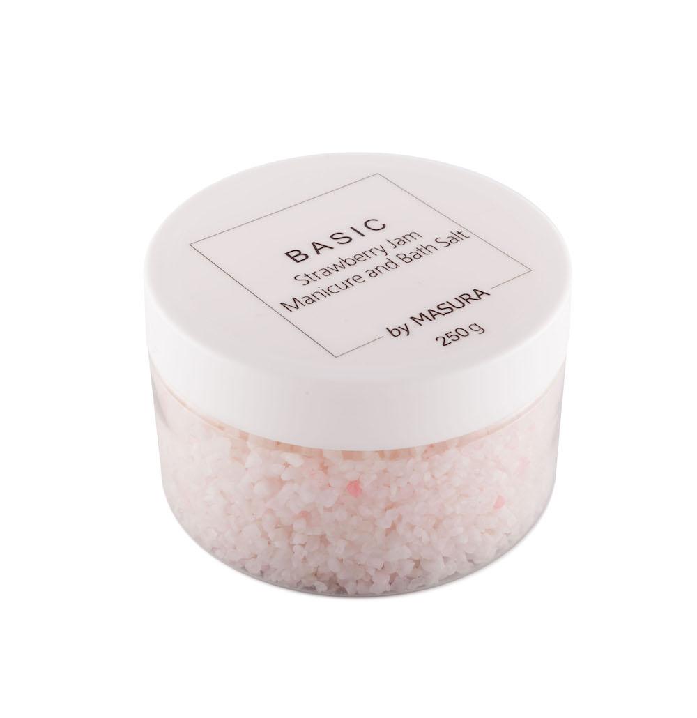Masura Натуральная морская соль «Strawberry Jam» улучшающая тон кожи, 250 гр8003Натуральная морская соль «Земляничное Варенье» улучшающая тон кожи, очищающая и увлажняющая, для маникюрной ванночки и тела. Приятный ягодный аромат и натуральное СПА-действие на кожу рук и тела.