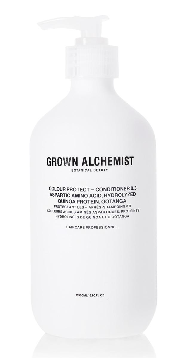 Grown Alchemist Кондиционер для окрашеных волос 500 млGRA0166Кондиционер запечатывает краску и блеск в структуре волоса, благодаря чему цвет волос долго остается таким же, как сразу после окрашивания. Он также защищает волосы от УФ-повреждений, воды и стресса, вызванного воздействием окружающей среды. Кондиционер облегчает расчесывание, делает волосы блестящими и увлажняет их.