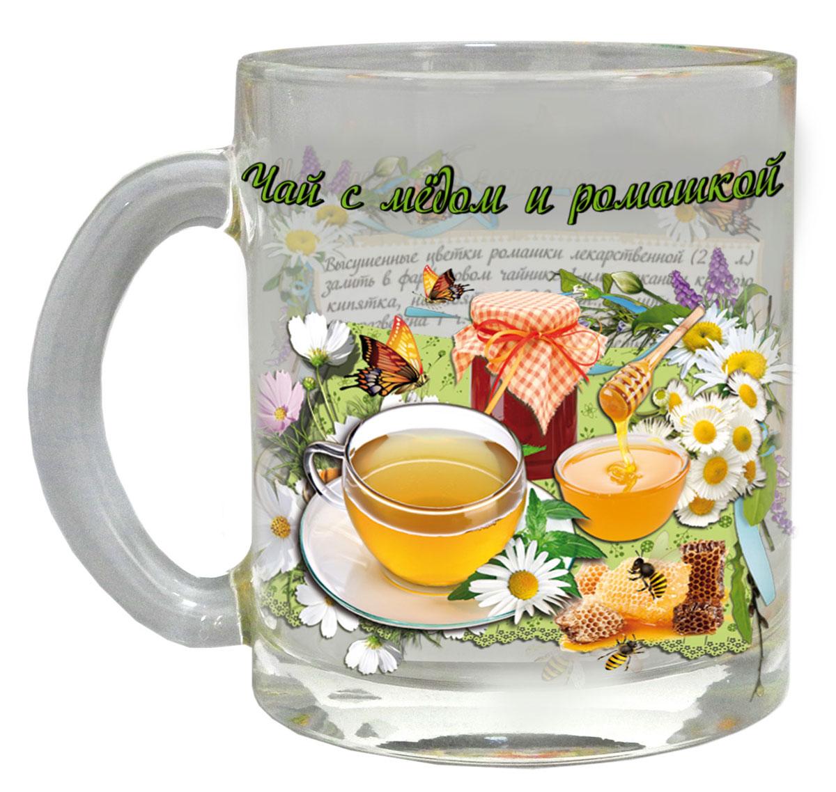 Кружка чайная Квестор Чай с медом и ромашкой, 320 мл103-001Кружка чайная Квестор Чай с медом и ромашкой, 320 мл