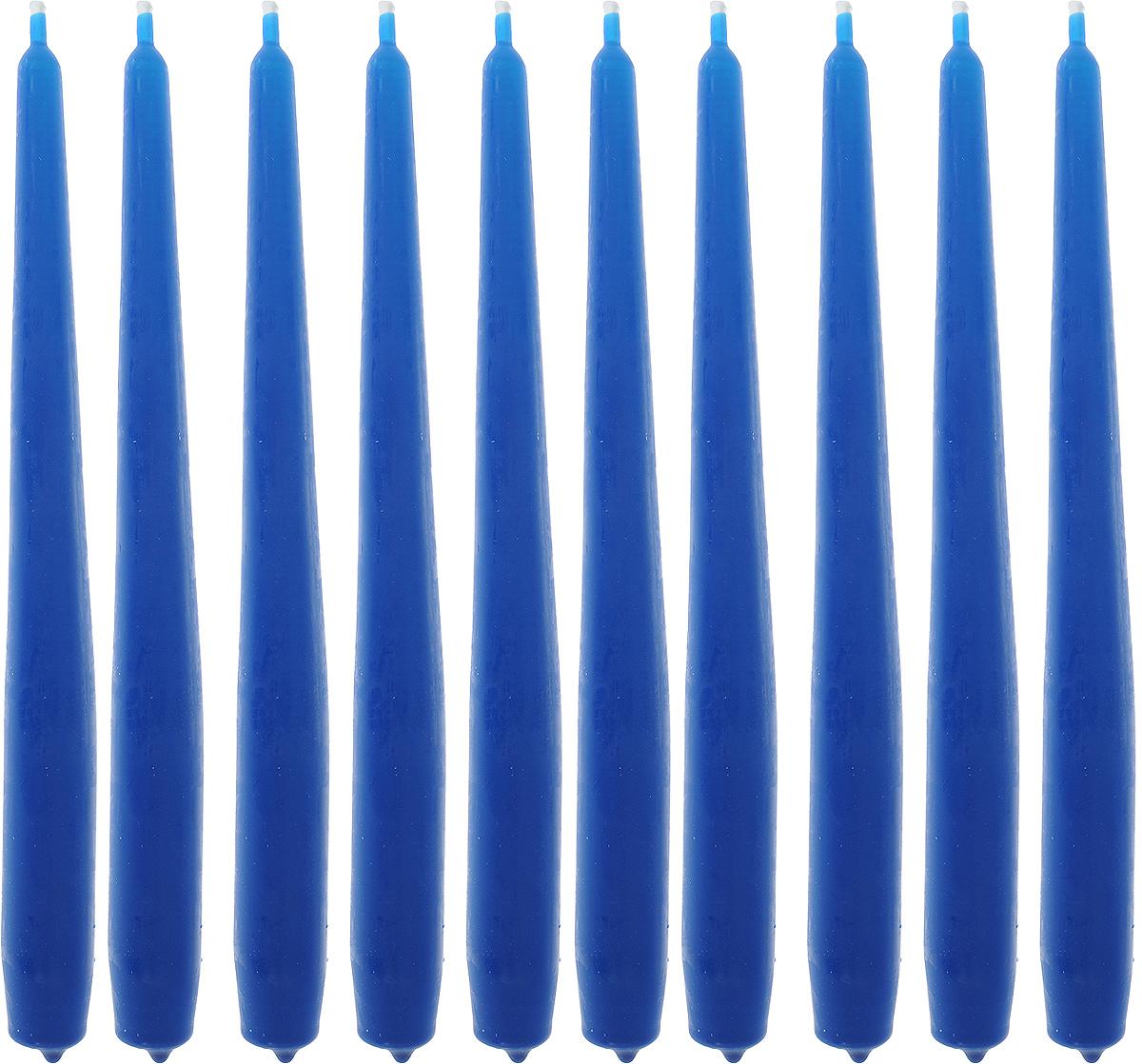 Набор свечей Омский cвечной завод, цвет: синий, высота 24 см, 10 шт331118,001907Набор Омский cвечной завод состоит из 10 свечей, изготовленных из парафина и хлопчатобумажной нити. Такие свечи создадут атмосферу таинственности и загадочности и наполнят ваш дом волшебством и ощущением праздника. Хороший сувенир для друзей и близких. Примерное время горения: 7 часов. Высота: 24 см. Диаметр: 2 см.