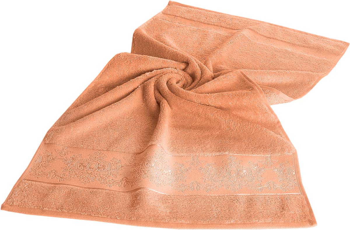 Полотенце бамбуковое Karna Pandora, цвет: абрикосовый, 70 х 140 см. 2157531-401Бамбуковое полотенце Karna Pandora займет достойное место в ванной комнате.Гипоаллергенное бамбуковое полотенце подойдет даже детям, а его антибактериальные свойства - весьма прекрасное дополнение к имеющимся достоинствам. Бамбуковое полотенце сможет долго радовать своими красками и внешним видом. Размер: 70 х 140 см.