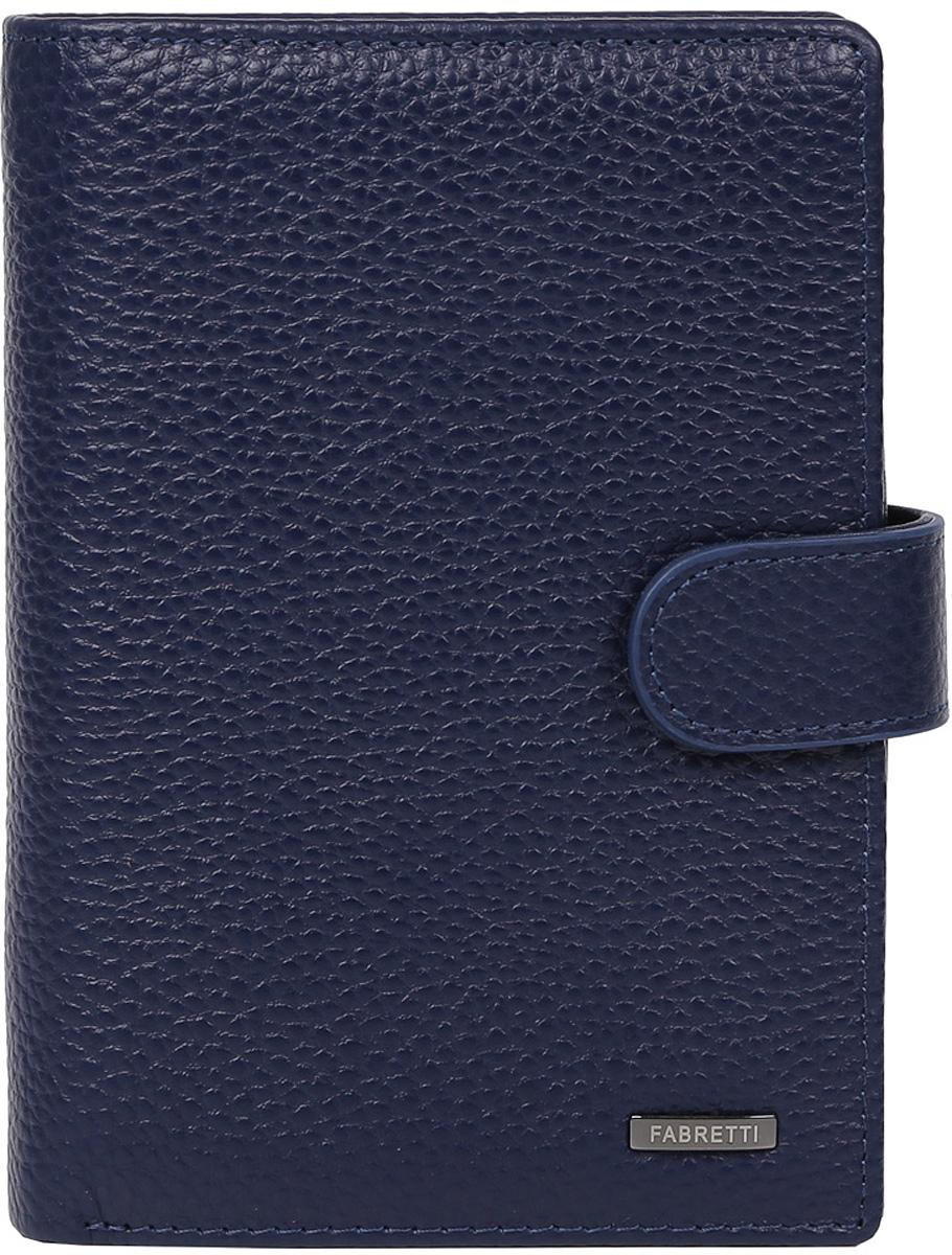 Кошелек мужской Fabretti, цвет: синий. 54006-d.blue54006-d.blueУдобный мужской кошелек от итальянского бренда Fabretti выполнен из натуральной пористой кожи. Внутри изделия находятся два отделения для купюр, также вы всегда сможете носить свой паспорт и документы с помощью удобного отсека. Кошелек очень вместителен, вы с легкостью расположите все ваши дисконтные и кредитные карты за счет 12 отделов, помимо этого в таком аксессуаре будет удобно хранить мелочь с помощью кармана на кнопке. Изделие застегивается на хлястик с кнопкой.