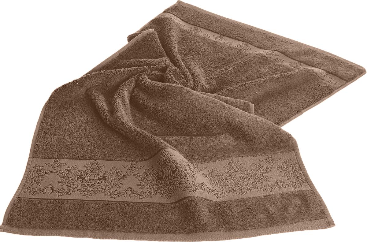 Полотенце Karna Pandora, цвет: коричневый, 50 х 90 см. 21562156/CHAR005