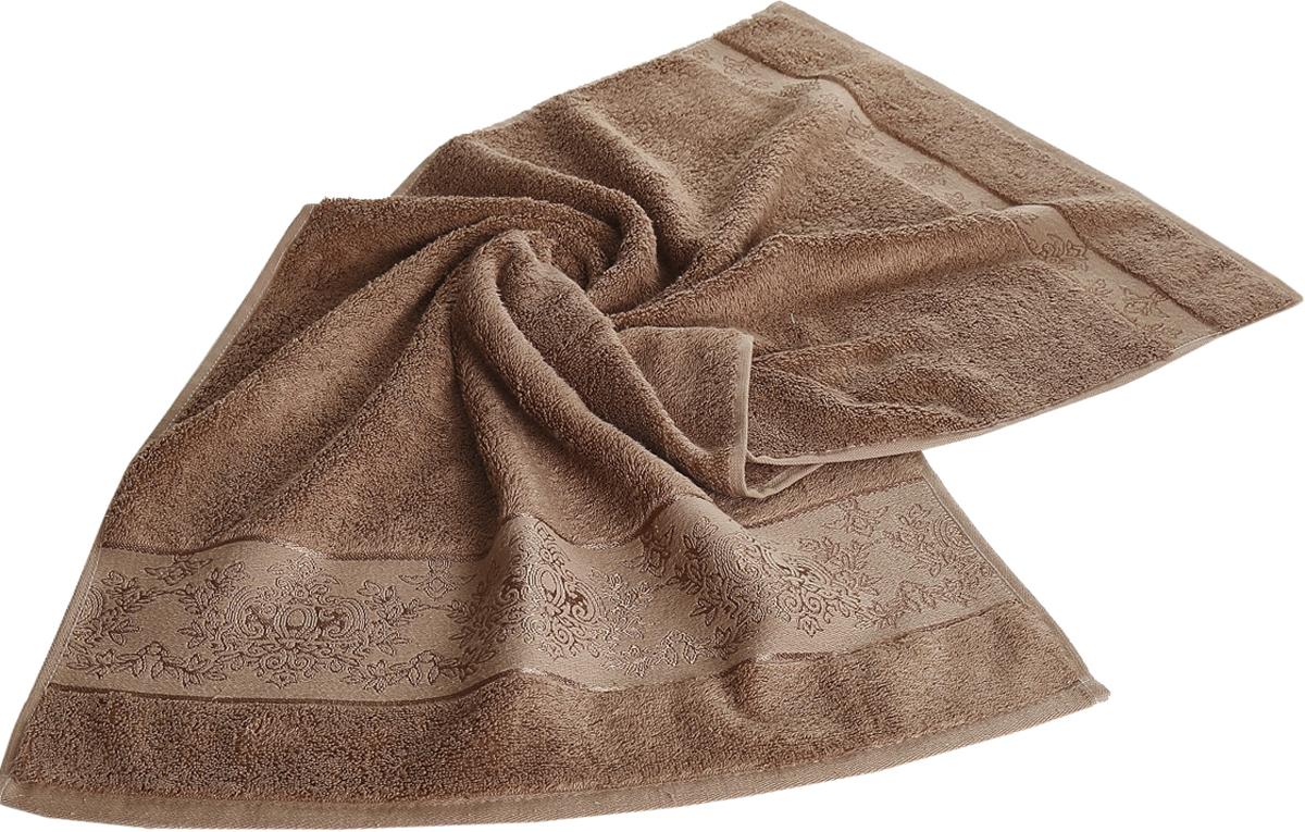 Полотенце Karna Pandora, цвет: коричневый, 70 х 140 см. 21592159/CHAR005