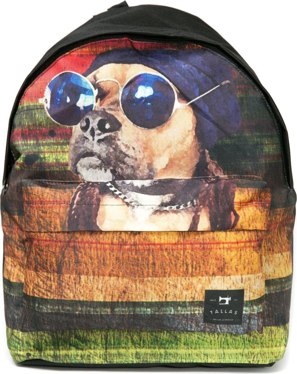 Рюкзак женский Mitya Veselkov Собака в очках, цвет: черный. BACKPACK-DOGRivaCase 8460 blackСтильный и удобный рюкзак Mitya Veselkov Собака в очках декорирован ярким принтом с изображением собаки. Рюкзак сделан из текстиля. Изделие имеет одно основное вместительное отделение, которое закрывается на молнию. Внутри есть еще одно отделение для мелочей. Изделие оснащено двумя текстильными лямками, которые регулируются по длине, и удобной ручкой для переноски. Снаружи, на передней стенке расположен накладной карман на молнии.Такой рюкзак эффектно дополнит ваш образ, поднимет настроение окружающим и станет незаменимым в повседневной жизни или в путешествии.