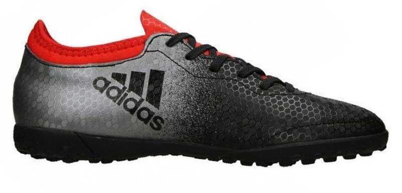 Бутсы для мальчика adidas X tango 16.3 tf j, цвет: черный, серый. BA9736. Размер 34BA9736Бутсы для мальчика Adidas X tango 16.3 tf j с верхом, выполненным из текстиля и резины. Верх techfit обеспечивает идеальную посадку без дополнительного разнашивания. Классическая шнуровка фиксирует модель на стопе. Стелька, выполненная из мягкого текстиля, обеспечивает комфорт и отличную амортизацию. Легкая подошва Cage Chaos для лучшего чувства поверхности и взрывной скорости на твердых покрытиях, таких как искусственный газон с коротким синтетическим ворсом.