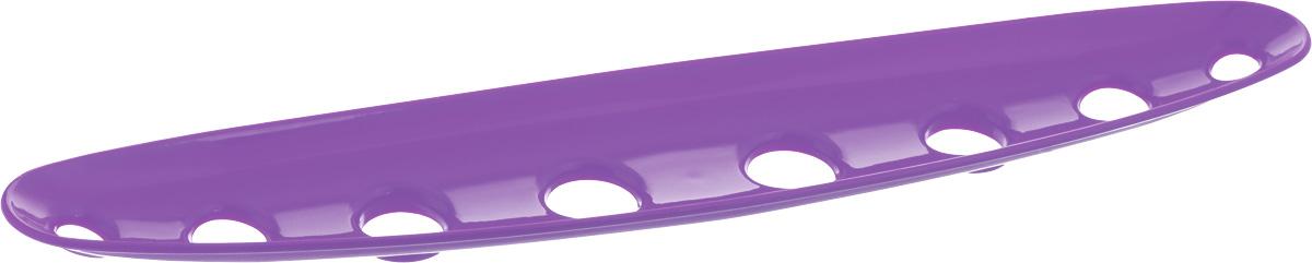 Миска для фруктов и овощей Tescoma Vitamino, продольная, цвет: фиолетовый, 45 х 9 х 3 см642788_фиолетовыйПродольная миска Tescoma Vitamino выполнена из высококачественного прочного пластика. Изделие прекрасно подходит для хранения свежих фруктов и овощей, например, яблок, груш, слив, мандаринов, помидоров, а также для ополаскивания их под проточной водой. Миска оснащена большими отверстиями для максимального доступа воздуха к хранимым продуктам. Фрукты и овощи в таком изделии дозревают естественным путем и дольше остаются свежими. Подходит для холодильника и посудомоечной машины. Размер миски: 45 х 9 х 3 см.