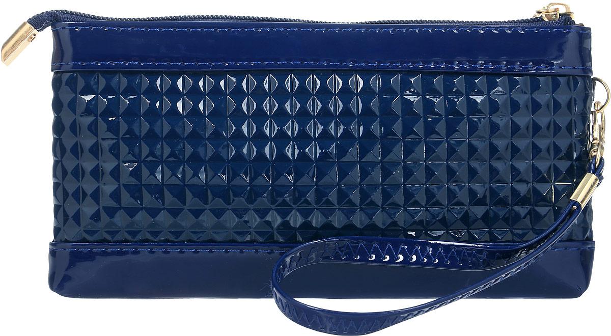 Кошелек женский Leighton, цвет: темно-синий. 741-1741-1 blueСтильный женский кошелек Leighton выполнен из искусственной кожи и закрывается на застежку-молнию. Подкладка кошелька изготовлена из полиэстера. Изделие содержит одно отделение, снаружи карман на молнии. В комплекте маленький ремешок.