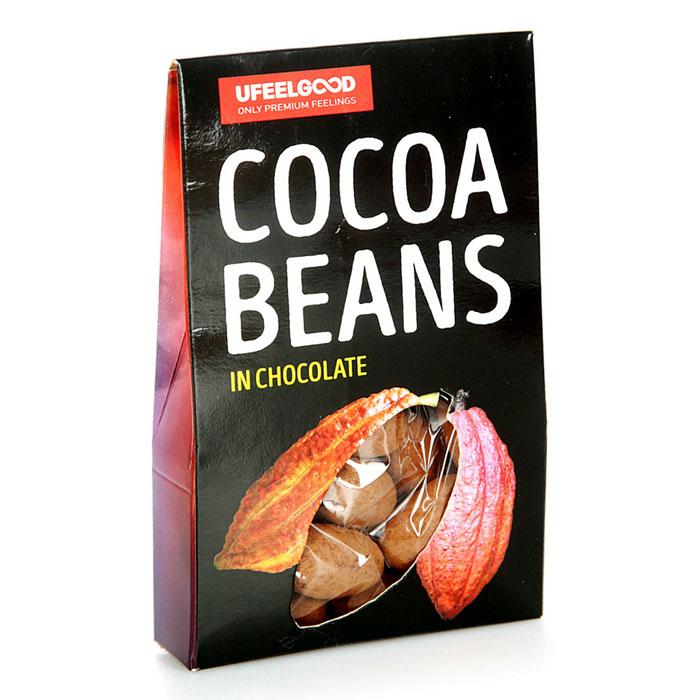 UFEELGOOD Cocoa Beans in Chocolate какао бобы в ремесленном шоколаде, 50 г4680016092327Сорт какао-бобов – ECUADOR CNN-51. Кристаллы сахара производятся из 100% натурального сахарного тростника. Тростник собирается, очищается, затем выжимается сок, который потом кристаллизуется. Все это происходит в течение двадцати четырех часов после сбора урожая. 5 аргументов ЗА! Это новый вкус! Оригинальное сочетание вкусов ферментированных бобов с шоколадом. Энерго-тоник! Вещества, содержащиеся в какао-бобах и шоколаде, поднимают настроение и жизненный тонус. Полезно! Какао-бобы – одни из самых мощных антиоксидантов на Земле. Удобно! Быстрый способ перекусить. Можно употреблять в качестве десерта с кофе или чаем.
