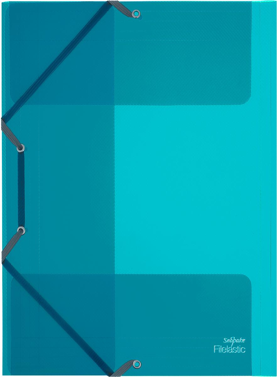 Snopake Папка-конверт на резинке Filelastic Electra цвет цвет бирюзовыйK13720_бирюзовыйПапка-конверт на резинке Snopake Filelastic Electra  - это удобный и функциональный офисный инструмент, предназначенный для хранения и транспортировки рабочих бумаг и документов формата А4. Папка с двойной угловой фиксацией резиновой лентой изготовлена из износостойкого полупрозрачного пластика. Внутри папка имеет три клапана, что обеспечивает надежную фиксацию бумаг и документов. Папка - это незаменимый атрибут для студента, школьника, офисного работника. Такая папка надежно сохранит ваши документы и сбережет их от повреждений, пыли и влаги.