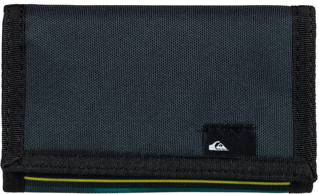 Кошелек мужской Quiksilver The Everyday, цвет: синий, зеленый. EQYAA03468-BFN6BM8434-58AEМужской кошелек от Quiksilver выполнен из полиэстера и оформлен оригинальным принтом. У модели складной дизайн, три секции, внешний кармашек для мелочи на молнии, много отделений для карточек, отделение для банкнот. Застегивается на липучку.