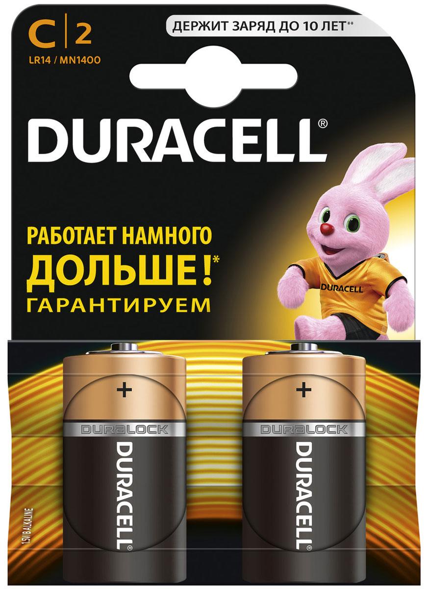 Набор алкалиновых батареек Duracell, тип С, 2 штDRC-81483545Набор батареек Duracell предназначен для использования в цифровых фотокамерах, телефонах DECT, беспроводных джойстиках, и других устройств с высоким энергопотреблением. Характеристики: Тип элемента питания: С (LR14). Тип электролита: щелочной. Выходное напряжение: 1,5 В. Комплектация: 2 шт. Производитель: Бельгия.