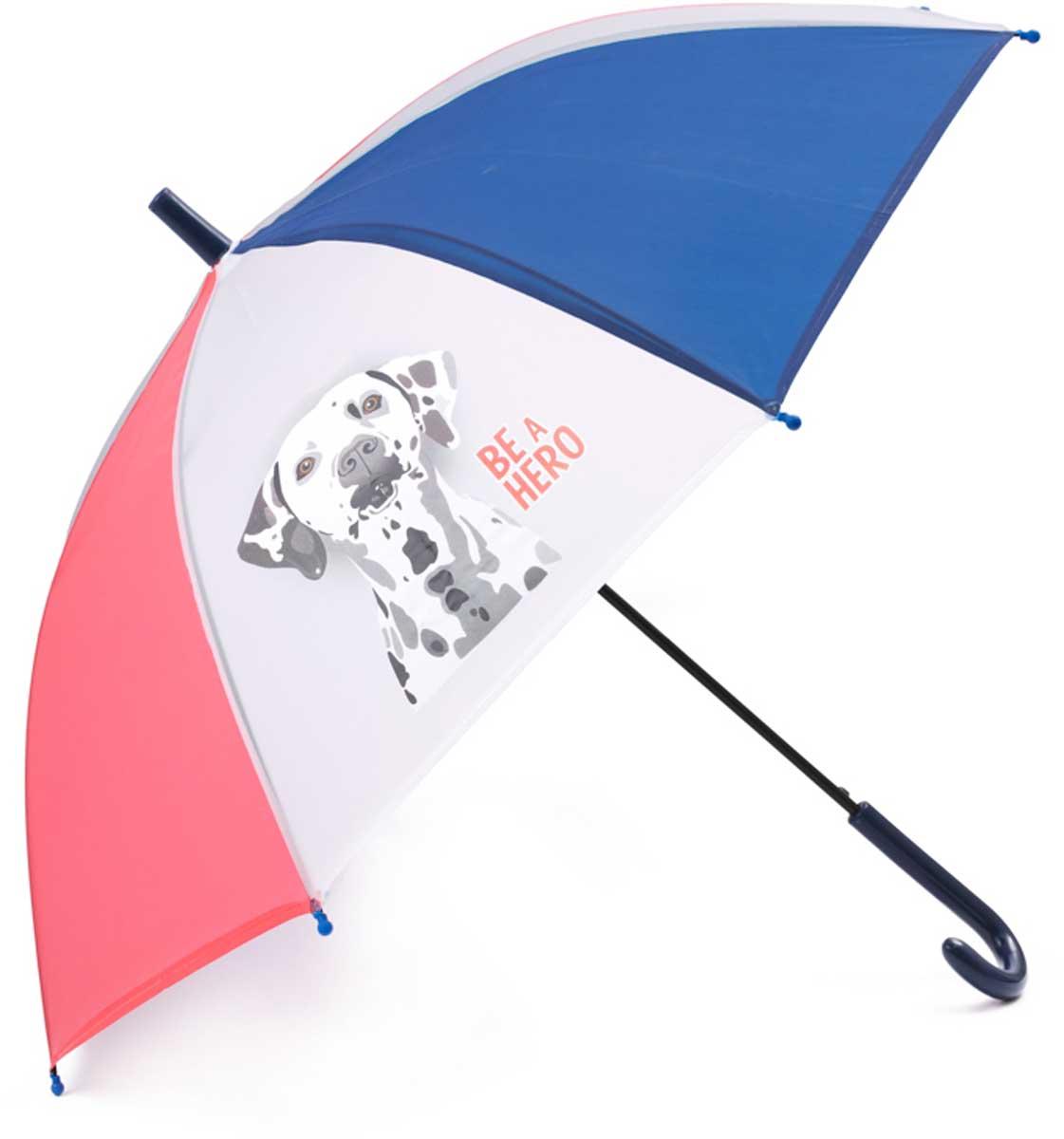 Зонт для мальчика PlayToday, цвет: белый, синий, красный. 171701. Размер 48.5171701Этот яркий цветной зонтик обязательно понравится Вашему ребенку! Оснащен специальной безопасной системой открывания и закрывания. Материал каркаса ветроустойчивый. Концы спиц снабжены пластмассовыми наконечниками для защиты от травм. Такой зонт идеально подойдет для прогулок в дождливую погоду.