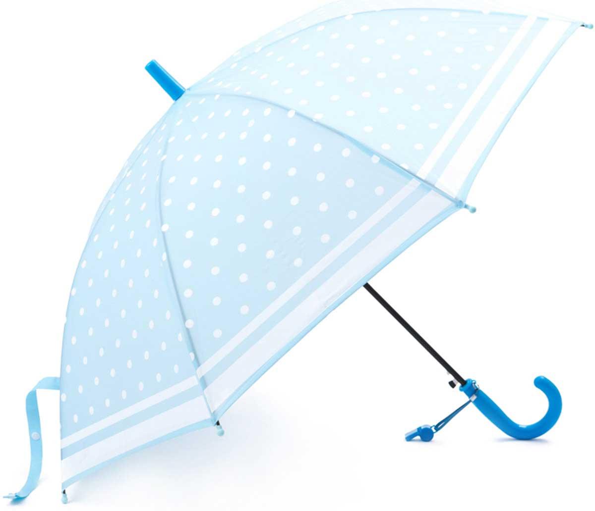 Зонт для девочки PlayToday, цвет: голубой. 172701. Размер 48.545100948B/32793/5900NЭтот яркий зонтик обязательно понравится Вашему ребенку! Оснащен специальной безопасной системой открывания и закрывания. Материал каркаса ветроустойчивый. Концы спиц снабжены пластмассовыми наконечниками для защиты от травм. Такой зонт идеально подойдет для прогулок в дождливую погоду.