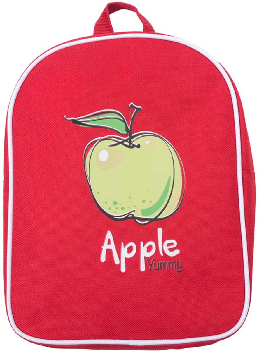 Рюкзак для девочки PlayToday, цвет: красный, зеленый. 172753721706R569Стильный рюкзак для девочки выполнен из полиэстера. Модель с одним отделением, застегивается на молнию. Украшен стильным принтом. Плечевые лямки регулируются по длине.