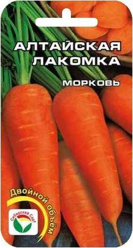 Семена Сибирский сад Морковь. Алтайская лакомка двойной объемBP-00000257Среднеспелый сорт, отличающийся особо сладкой нежной мякотью, с коническими корнеплодами ярко-оранжевого цвета, отличная лежкость. Способность формировать урожай при самых экстремальных условиях выращивания.