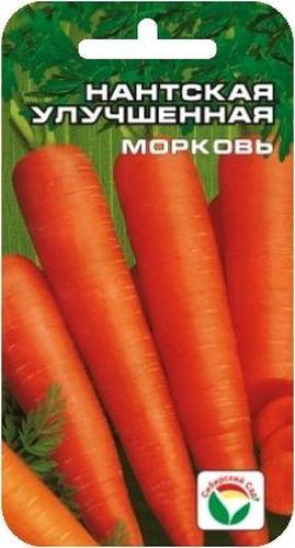 Семена Сибирский сад Морковь. Нантская улучшенная, 2 гBP-00000268Среднеспелый сорт. Образует ровные, гладкие, ярко-оранжевые корнеплоды длиной до 20 см, массой до 150 г. Мякоть сочная, нежная, сладкая, сердцевина небольшая, по окраске не отличается от мякоти. Корнеплоды отличного вкуса, являются великолепным лакомством для детей в летний период. Используется для потребления в свежем виде и зимнего хранения. Морковь лучше растет на легких суглинистых и супесчаных почвах. Посев в конце апреля- начале мая на глубину 3 см, расстояние между рядами 18 см. Через две недели после всходов морковь прореживают. Второе прореживание производят, когда корнеплоды достигнут диаметра 1 см, оставляя между растениями 5-6 см. В дальнейшем уход заключается в прополке, рыхлении и поливе. Подзимние посевы производят, когда температура опустится до 5 С. Семена заделывают на глубину 1-2 см, поверхность мульчируют торфом. Для ускорения процесса всхожести семян, оздоровления растений, улучшения завязываемости плодов рекомендуется...