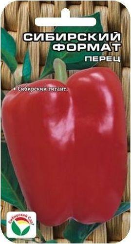 Семена Сибирский сад Перец. Сибирский формат, 15 штBP-00000356Новый мощный среднеспелый сорт, впечатляющий размерами и весом красивых красных плодов. Имеет крупный высокорослый (до 80 см) куст полуштамбового типа. Формирует до 15 очень крупных кубовидных 3-4-камерных плодов. Средний размер плода 12x10 см, максимальный 18x12 см, масса 300-450 г. Окраска плодов в технической спелости темно-зеленая, в период созревания темно-красная, глянцевая. Толщина стенки перикарпия 8-10 мм. Плоды имеют нежную консистенцию, приятный вкус и запах. Сорт требователен к плодородию почвы и поливу, но в тоже время способен дать хороший урожай и на менее обеспеченных почвах. Урожайность до 3,5 кг с растения. Для увеличения урожайности рекомендуется соблюдать режим минерального питания и полива, своевременно производить сбор плодов, достигших технической зрелости. Посев на рассаду производят за 60-70 дней до высадки растений на постоянное место. Оптимальная постоянная температура прорастания семян 26-28°С. При высадке в грунт на 1 м2...