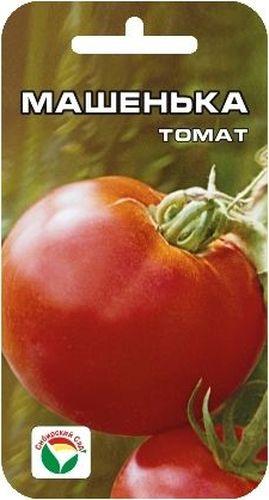 Семена Сибирский сад Томат. Машенька, 20 шт9568Среднеранний сорт алтайских селекционеров. От всходов до начала созревания плодов- 96-100 дней. Сорт выделяется прекрасным видом куста высотой 1,2-1,5 м, который снизу доверху увешан красными, ровными плодами массой 250-400 г. Отличается высокой завязываемостью плодов и устойчивостью к грибковым заболеваниям томатов. Рекомендуется для выращивания в открытом грунте и под пленочными укрытиями.