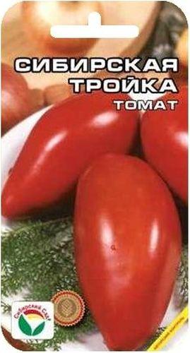 Семена Сибирский сад Томат. Сибирская тройка, 20 шт9123Новый высокоурожайный сорт сибирской селекции для открытого грунта и пленочных укрытий. Сорт среднеранний, с компактным штамбовым типом куста, высотой до 60 см. Плоды красные, яркие, правильной перцевидной формы, крупные. Первые плоды длиной до 15 см, весом до 350 г. К достоинствам сорта относятся также его высокая урожайность (до 5 кг с растения) в сочетании с низкорослым типом куста и высокая устойчивость к заболеваниям. Сорт практически не требует пасынкования. Посев на рассаду проводят во второй половине марта при температуре почвы 22-25°С. При высадке на постоянное место рекомендуется размещать 3-5 растений на 1 м2, в процессе вегетации регулярно подкармливать и поливать растения. Для ускорения процесса всхожести семян, оздоровления растений, улучшения завязываемости плодов рекомендуется пользоваться специально разработанными стимуляторами роста и развития растений.