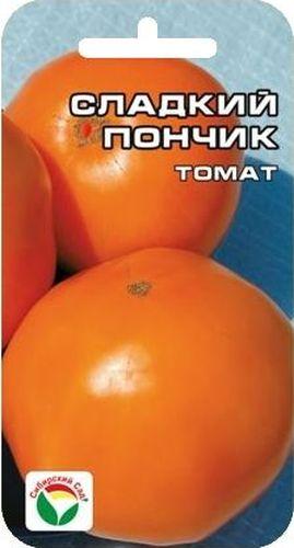 Семена Сибирский сад Томат. Сладкий пончик, 20 штBQ1694БРЗНовый высокоурожайный раннеспелый сорт сибирских селекционеров для пленочных теплиц и открытого грунта. Очень понравится любителям желтых томатов за хороший вкус и низкое содержание кислот. Растение высотой до 1 м, кисть простая, с 4-8 красивыми выровненными плодами округлой формы, янтарно - желтого цвета, массой до 150 г. Соцветия закладываются через 1-2 листа, созревание плодов раннее и дружное. Сорт универсального назначения, отличных вкусовых качеств. Устойчив к ВТМ. Урожайность высокая - до 6 кг/м2. Один из немногих сортов, гарантирующий высокие урожаи в разные по погодным условиям годы.Посев на рассаду производят за 50-60 дней до высадки растений на постоянное место. При высадке в грунт на 1 м2 размещают 3-5 растений. Сорт хорошо реагирует на полив и подкормки комплексными минеральными удобрениями. Выращивается в 2-3 стебля с подвязкой и умеренным пасынкованием.