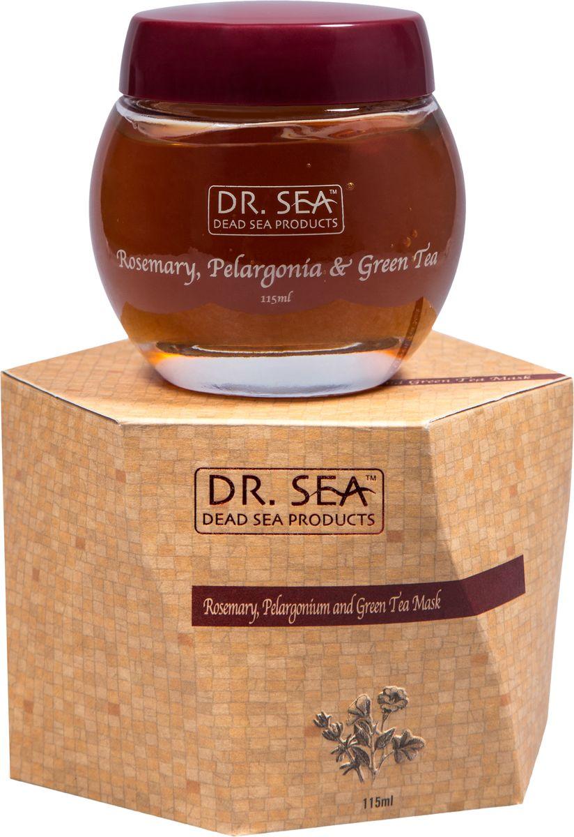 Dr. Sea Маска для лица Розмарин, пеларгония и зеленый чай, 115 млFS-00897Антиоксидантный уход, успокаивающее действие, сужение пор. Экстракты розмарина и зеленого чая обладают успокаивающим действием, защищают кожу от свободных радикалов. Полифенолы зеленого чая оказывают противовоспалительное и антибактериальное действие, снабжают клетки кислородом, усиливают защитные свойства кожи. Дубильные вещества зеленого чая создают на коже защитную пленку, оказывающую бактерицидное действие. Экстракт зеленого чая уменьшает отечность, укрепляет стенки сосудов.Масло пеларгонии (герани) усиливает микроциркуляцию и способствует обновлению клеток кожи, является прекрасным успокаивающим средством для раздраженной чувствительной и поврежденной кожи. Также, обладая увлажняющим и смягчающим действием, благотворно влияет на сухую, огрубевшую, и шелушащуюся кожу лица. Оно помогает существенно восстановить ее упругость и эластичность.Не менее благотворно влияет эфирное масло пеларгонии и на жирную и проблемную кожу, т.к. способствует уменьшению производства кожного сала, нормализует работу потовых желез кожи лица, устраняет воспалительные процессы кожи, и тем самым помогает избавиться от прыщей и угревой сыпи.Подходит для всех типов кожи.