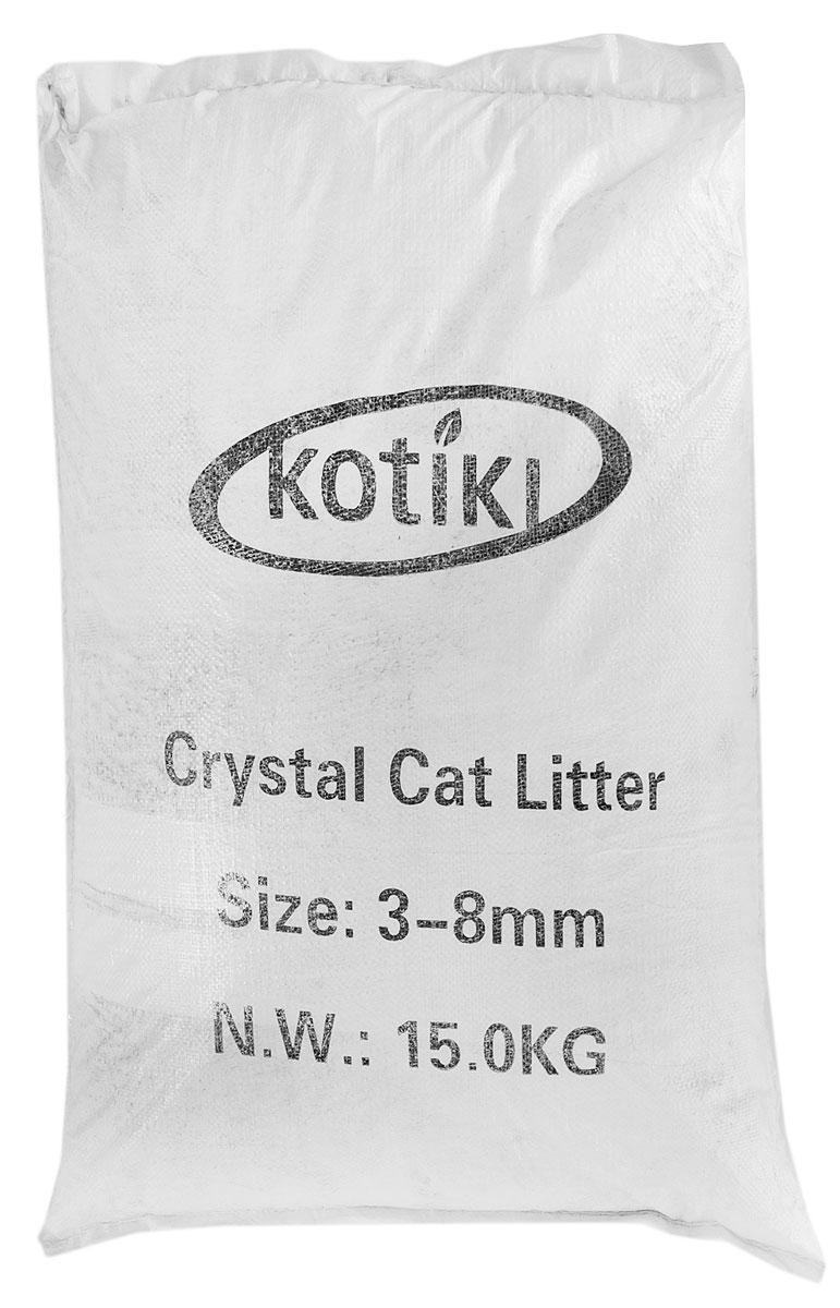 """Наполнитель для кошачьего туалета """"Kotiki"""", силикагелевый, 35 л 00000000010"""