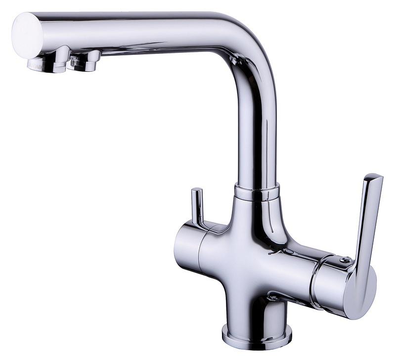 Смеситель для мойки Smartsant Кухонная серия, с каналом для фильтрованной воды, цвет: хромSM134038AAСмеситель для мойки с каналом для фильтрованной воды, хром SM134038AA