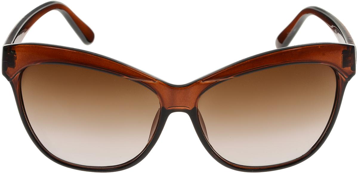 Очки солнцезащитные женские Vittorio Richi, цвет: коричневый. ОС1632с2/17fОС1632с2/17fСолнцезащитные очки Vittorio Richi выполнены из высококачественного пластика. Пластик используемый при изготовлении линз не искажает изображение, не подвержен нагреванию и вредному воздействию солнечных лучей. Оправа очков легкая, прилегающей формы и поэтому обеспечивает максимальный комфорт. Такие очки защитят глаза от ультрафиолетовых лучей, подчеркнут вашу индивидуальность и сделают ваш образ завершенным.