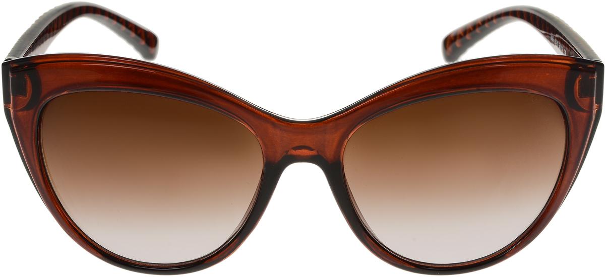 Очки солнцезащитные женские Vittorio Richi, цвет: коричневый. OC8067c81-11/17fINT-06501Солнцезащитные очки Vittorio Richi выполнены из высококачественного пластика. Пластик используемый при изготовлении линз не искажает изображение, не подвержен нагреванию и вредному воздействию солнечных лучей. Оправа очков легкая, прилегающей формы и поэтому обеспечивает максимальный комфорт. Такие очки защитят глаза от ультрафиолетовых лучей, подчеркнут вашу индивидуальность и сделают ваш образ завершенным.