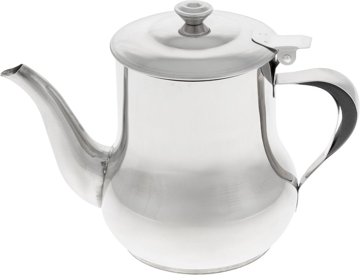 Чайник заварочный Mayer & Boch, с фильтром, 500 мл402Заварочный чайник Mayer & Boch изготовлен из высококачественной нержавеющей стали, что делает его весьма гигиеничным и устойчивым к износу при длительном использовании. Гладкая и ровная поверхность существенно облегчает уход за посудой. Изделие оснащено сетчатым фильтром, который задерживает чаинки и предотвращает их попадание в чашку. Откидывающаяся крышка удобна при использовании чайника. Чай в таком чайнике дольше остается горячим, а полезные и ароматические свойства полностью сохраняются в напитке. Подходит для использования на электрических, газовых и стеклокерамических плитах. Диаметр чайника (по верхнему краю): 8 см. Высота чайника (с учетом крышки): 13 см.